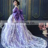 Purple Fashion Royalty Princess Party Doll Dress Clothes