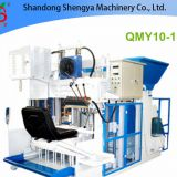 QMY10-15 Big production mobile hydralic concrete block making machine