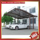 outdoor villa alu aluminium aluminum alloy metal PC polycarbonate double parking carports car port shelter canopy awning cover
