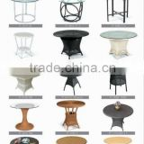 Outdoor Rattan Wicker Round Dining Tables and Coffee Table