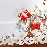 2014 most fashionable Christmas cheap wedding table cloth wholesale fabric for table cloth