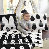 Baby Blanket Black White Cute Rabbit Swan Cross Knitted Plaid For Bed Sofa Cobertores Mantas BedSpread Bath Towels Play Mat Gift                                                                         Quality Choice