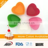 FDA kitchen utensils heart shape cake tools silicon cake mold                                                                                                         Supplier's Choice