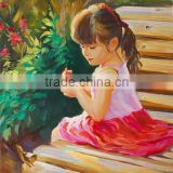 bedroom decorating Customized Photo to paint Different Size Little Girl portrait oil painting for kids room bedroom decor