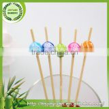 2016 Wholesale super quality creative bamboo bead fruit picks