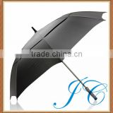 Real outdoor double canopy golf umbrella/large black golf umbrella