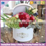 luxury smooth surface paper box dried roses storage box