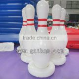 custom giant inflatable bowling pins and zorb balls human bowling game