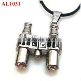South Korea popular necklace style, fashion telescope stainless steel charm necklace wholesale