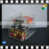 Clear acrylic storage makeup cosmetic drawer organizer acrylic makeup jewelry display box/bin with cover/top From China