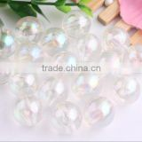 Wholesales Price 10MM to 20MM Stock Round Acrylic AB Effect Transparent Beads for Kids Chunky Necklace Jewelry