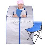 Silver Colour Removable Collar Portable Infrared Mini Sauna Room