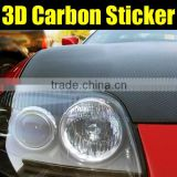Most popular 3D car wrapping vinyl sticker with air free bubbles, car carbon fiber sticker for car body wrap