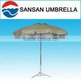 240CM wholesale Oxford fabric light-yellow fibre glass with tilt and lace beach sun umbrella