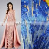 alibaba china wholesale 3d applique nigerian dress lace fabric african french tulle lace with rhinestone