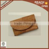 FH205 Wholesale China Factory 2016 Vegan Gift Cork Leather Coin Purse Wallet