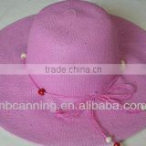 hot selling different colors soft women summer hats/beach straw hats for adult factory price