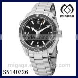fashion men's stainless steel rotational bezel chronometer watch