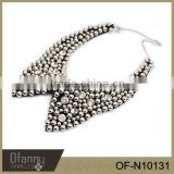 Crystal Beaded Collar Necklace Costume Fake Collar Necklace Fashion Statement Collar Necklace