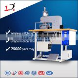 Auto insole/shoe-pad/shoepad making machine ,Ultrasonic threadless seaming technology, shape in once time,