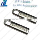 Normal embossed logo custom metal zipper pull
