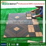 Composite decking floor with European modern DIY style design for indoor and outdoor balcony tile