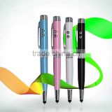 6 in 1 muliti founction led laser pen with stylus , high quality gift pen