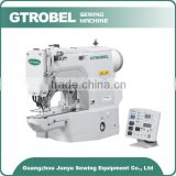 Direct drive suitable for sewing of vertical buttonholes servo controlled lockstitch industrial sewing machine