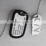 Cosplay Anime GANGSTA A/0 Nicolas Brown Titanium dog tag pendants necklace