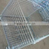 heavy duty wire mesh container for warehouse equipment,wire container storage cage wire mesh container,large wire mesh container