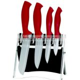 knife block sets set of 4pcs white blade ceramic knife set