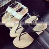 Summer new model flat strap sandals women casual flat shoes ladies Roman sandal