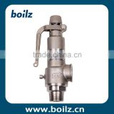 Media water or steam low temperature stainless steel 316 safety relief valve