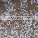 applique mesh net lace fabric/special lace african lace for wedding/beaded fabric emrboided/french beaded lace