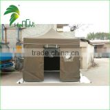 Heavy durable white polyester fabric Gazebo Canopy with double peak