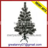 Alibaba china manufacturer new product 2ft(60cm) balck plastic pine needles artificial christmas tree