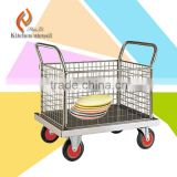 2015 latest style Spice Stainless steel linen strorage tray trolleys cart for bowl pan knife fork