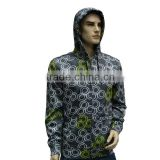 Breathable Bonded Polar Fleece Men's Light Hoodie zipper-up sweatshirt water repellent