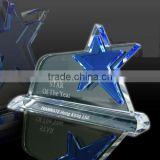 Blue star crystal awards crytsal name plaques for business gifts