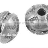 Tibetan Style Beads, Lead Free, Abacus, Antique Silver, 10x8mm, hole: 2mm(TIBEB-A0866-AS-LF)