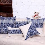 Blue and White Porcelain Flower microfiber Cotton Linen Throw Pillow Case Cushion Cover Home Sofa Decorativ