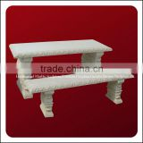 Decorative Backless Natural Stone Park Benches