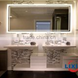 Contemporary design ideas for hotel, ultra bright LED mirror with acrylic transparent frame or frameless