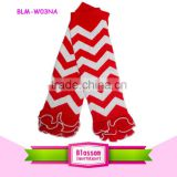 Newborn wholesale China baby tight arm warmers sock newest comfort chevron multiple knitting shabby flower leg warmers for kids