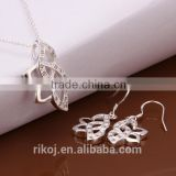 2015 wholesale fashion india choker 925 sterling silver jewelry set