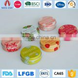 Wholesale Empty Round Mini Cosmetic Tin Container Custom Aluminum Metal Small Candy Lip Balm Tin                                                                         Quality Choice