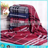 Wholesale 100% cotton terry loop plaid woven beach towel blanket stripes plaid beach towel