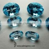 Sky Blue Topaz Semi Precious Gemstone Oval Cut Lot For White Gold Ring From Jaipur