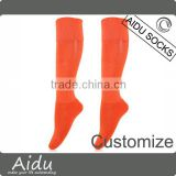 Sport Hosiery Fashion Orange Knee High Combed Cotton Sport Compression Socks                                                                         Quality Choice