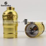 Golden Color Vintage Aluminum Lamp Holder E26 E27 Socket with Switch